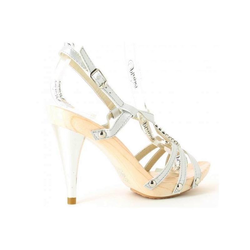 Souliers f minins en boutique argent pas cher - Pied en bois pour chaussure ...