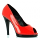 Escarpins Peep Toe rouges vernis flair-474