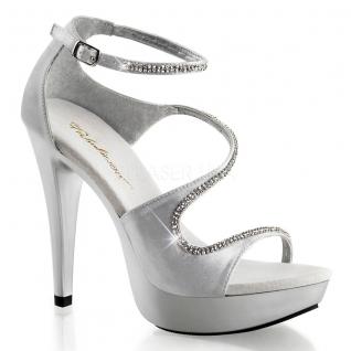 Chaussures mode été femme sandales argentées à strass talon haut
