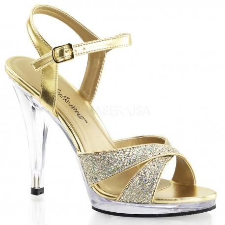 Nu-pieds paillettes dorées