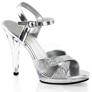 Sandales paillettes argentées