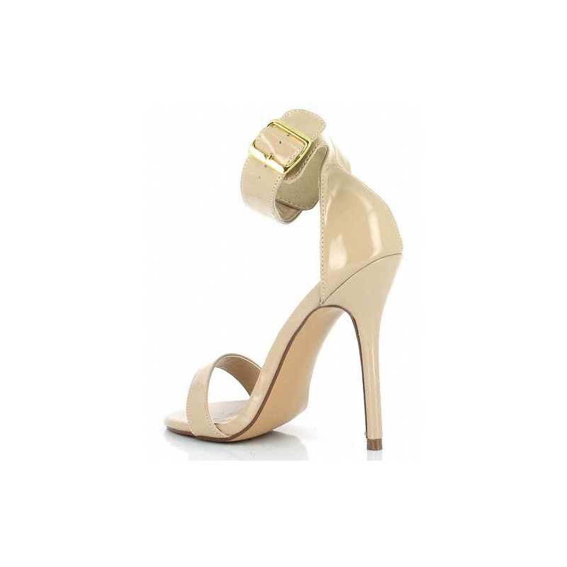 911ebc17abaa4d ... Nu-pieds coloris caramel talon sexy; Sandales ...