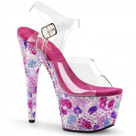 Chaussures originales sandales fantaisies talon plateforme crystalize-708