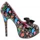 Chaussures originales escarpins humoristiques à lacet satin talon haut teeze-12-4