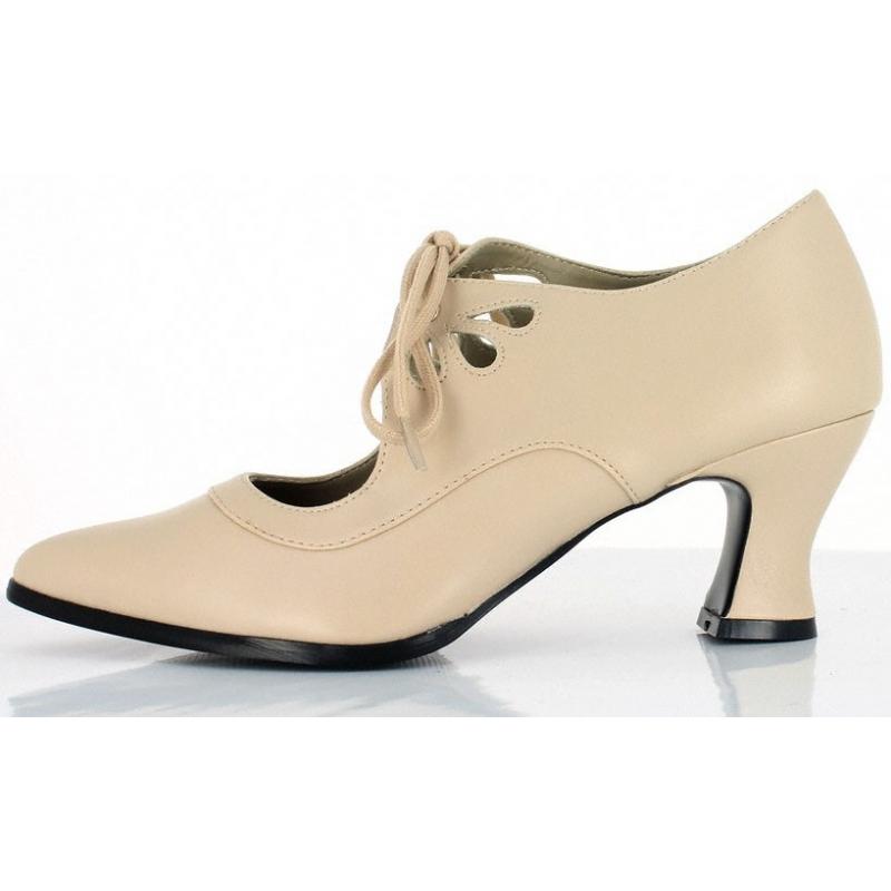 Chaussures féminines à lacet Richelieu look Pin Up