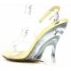 Chaussures talon compensé nu-pieds transparents et or lovely-450