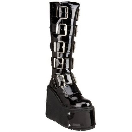 Chaussures gothiques bottes transformables vernies transformer-800