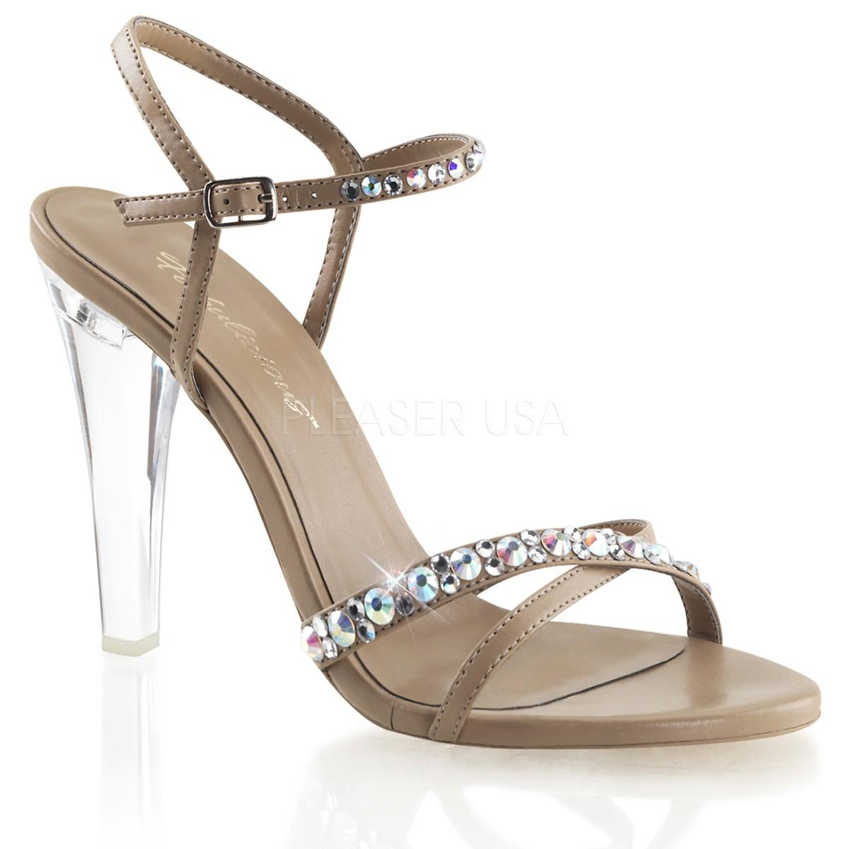 Chaussures habillées sandales coloris caramel talon haut clearly-15 - Pointure : 37