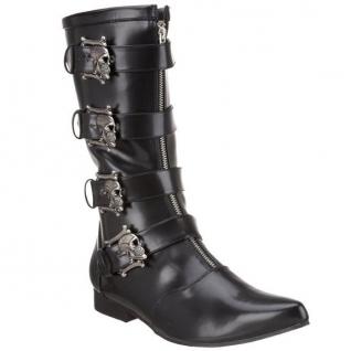 Chaussures hommes bottines gothiques tête de mort brogue-107