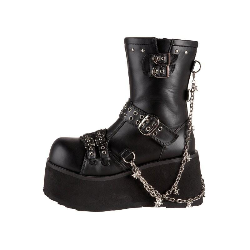 chaine punk masculine Démonia gothique à Boutique souliers noirs zAYYtw