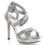Chaussures habillées sandales à brides argentées talon fin lumina-21