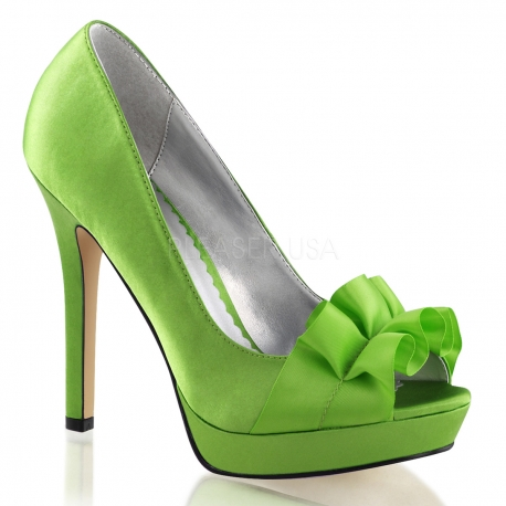 chaussures vertes pomme