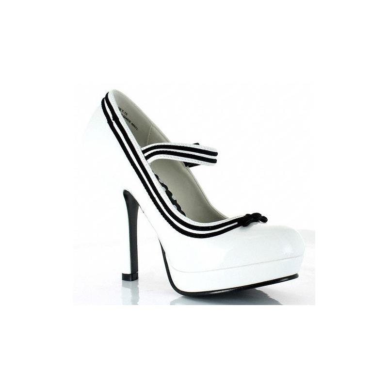 talon Boutique et noir souliers blanc fémininsescarpin 08wmNn