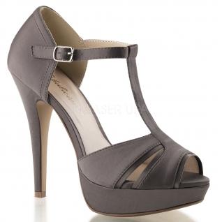 Chaussures habillées sandales coloris taupe talon haut lolita-20