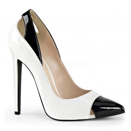 Escarpins noirs et blancs sexy-22