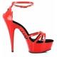 Nu-pieds rouges à brides croisées talon plateforme DELIGHT-662