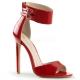 Sandales large bride coloris rouge vernis talon fin sexy-19