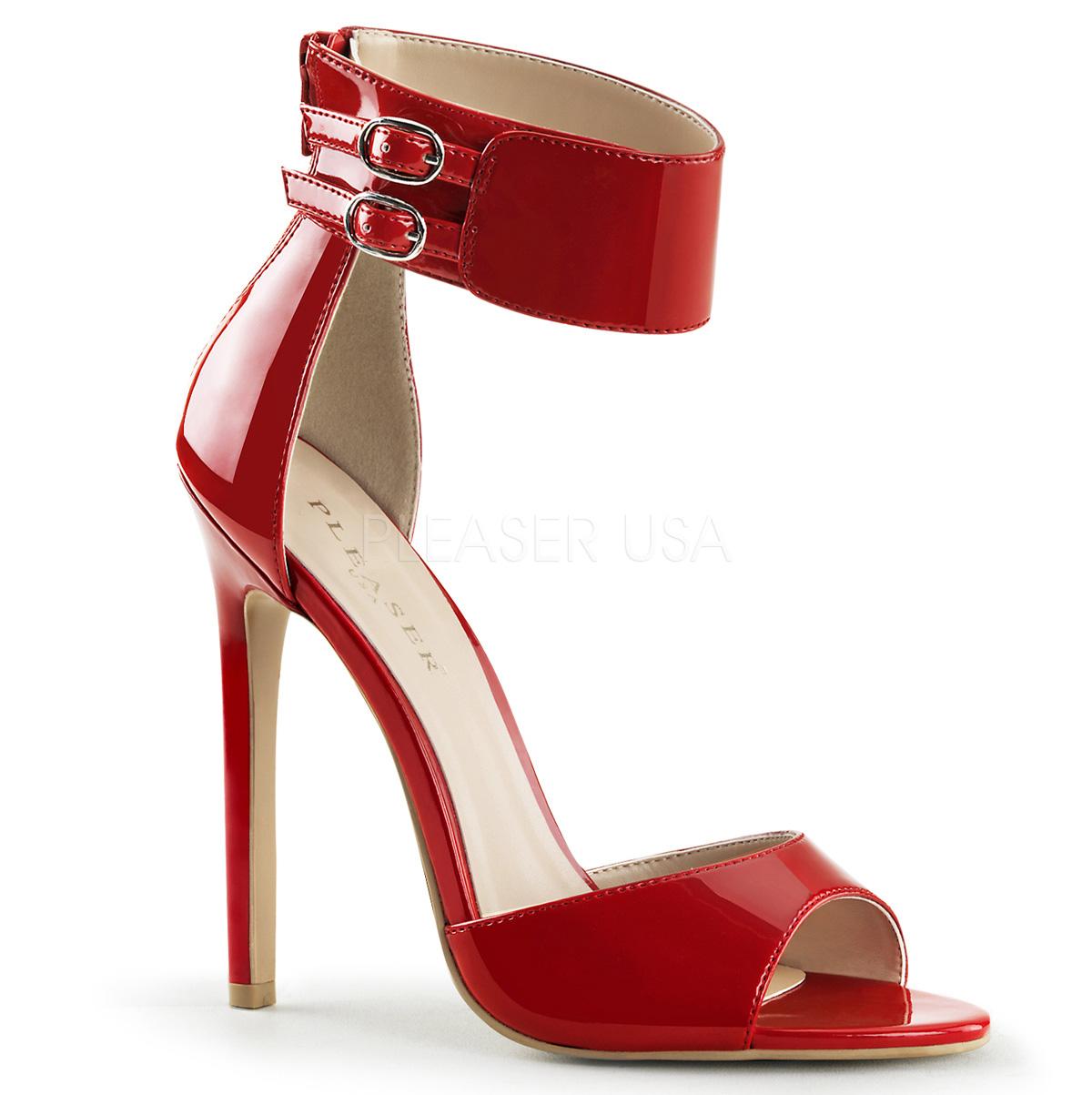 c2a65e2ac6d78 Escarpins d Orsay rouge vernis talon fin très haut