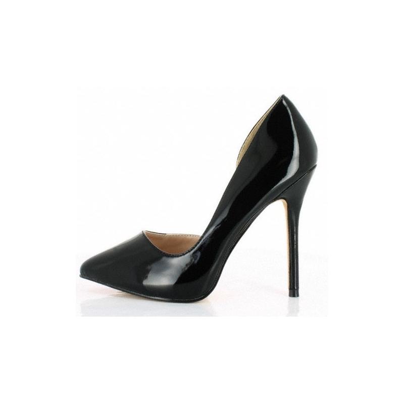 profiter du meilleur prix États Unis spécial chaussure Escarpins modes noirs vernis coupe échancrée talon