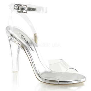 Sandales transparentes large bride talon haut clearly-406