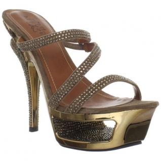 Mules de Luxe Fines Brides Bronze DELUXE-603