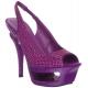 Nu-Pieds Haute Couture Violet Talon Plateforme DELUXE-654RS