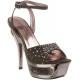 Sandales de Luxe Brides Croisées Gris Foncé DELUXE-631RS