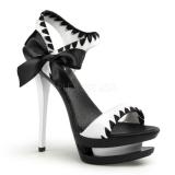 Chaussures nu-pieds haut talon coloris noir et blanc blondie-615