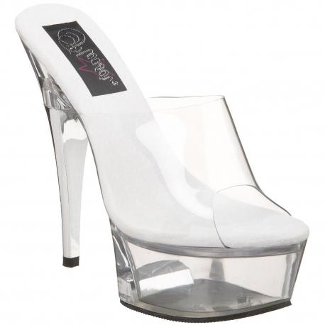 Chaussures mules transparentes haut talon plateforme captiva-601
