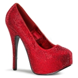 Escarpins strass rouges
