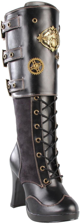 97d9b4783c1 Avec quoi porter des bottes Steampunk noire talon