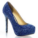 Escarpins de soirée strass bleu