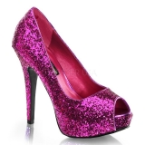 Escarpins Peep Toe strass violet