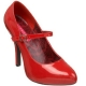 Escarpins rouges vernis à bride