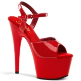Sandales rouges à bride très haut talon adore-709