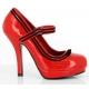 Escarpins Pin Up coloris rouge vernis