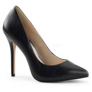 Escarpins classiques en cuir noir amuse-20