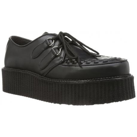 Semelle Épaisse Chaussure À Cuir Noir Punk Lacet hQsCrxtd