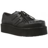 Chaussure gothique en cuir noir creeper-402