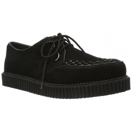 79af3ffb3cdd7f Chaussure punk coloris noir à lacet creeper mec