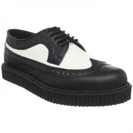 Chaussure rockabilly noire et blanche creeper-608