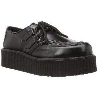 Chaussures hommes à lacet coloris noirv-creeper-502