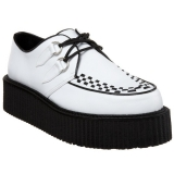 Chaussures blanches à lacet homme v-creeper-502