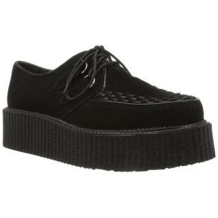 Chaussure microfibre noire à lacet v-creeper-502s