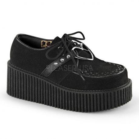 Creepers originales coloris noir semelle double creeper-206
