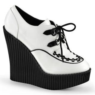 Creepers femmes coloris blanc et noir creeper-302