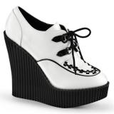 Creepers femmes coloris blanc et noir