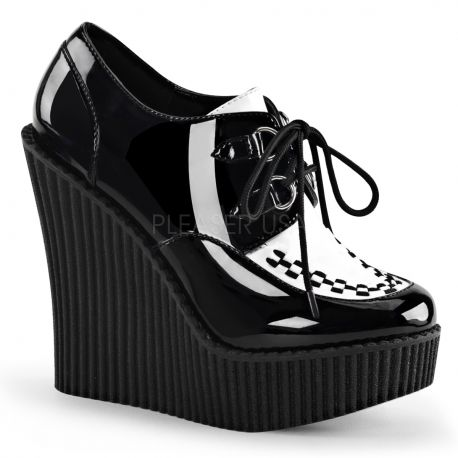 Creepers femmes coloris noir vernis creeper-302