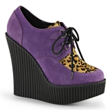 Creepers femme coloris lilas