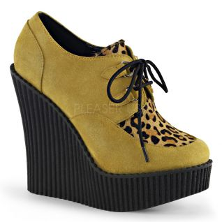 Creepers compensé coloris moutarde creeper-304
